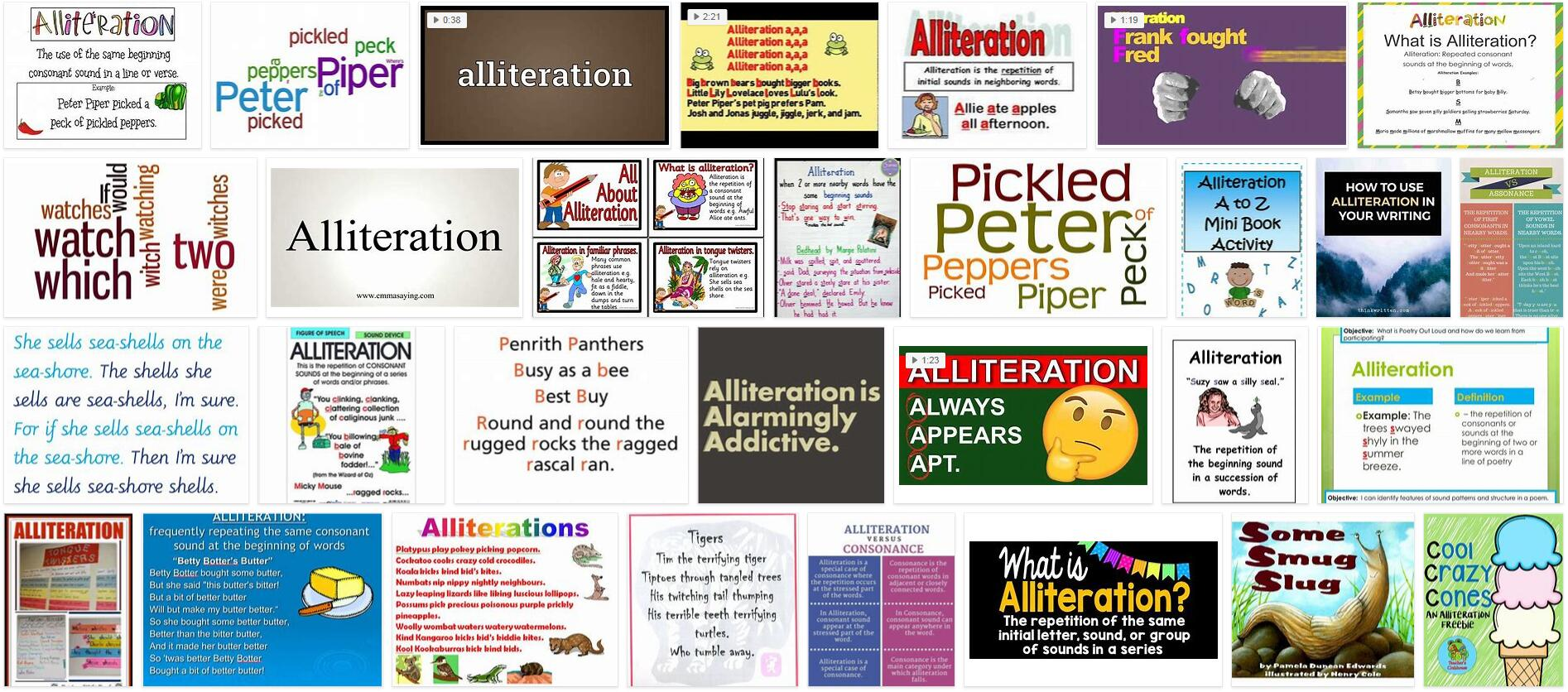 Meaning of Alliteration in English