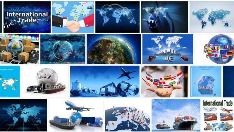 Meaning of International Trade in English