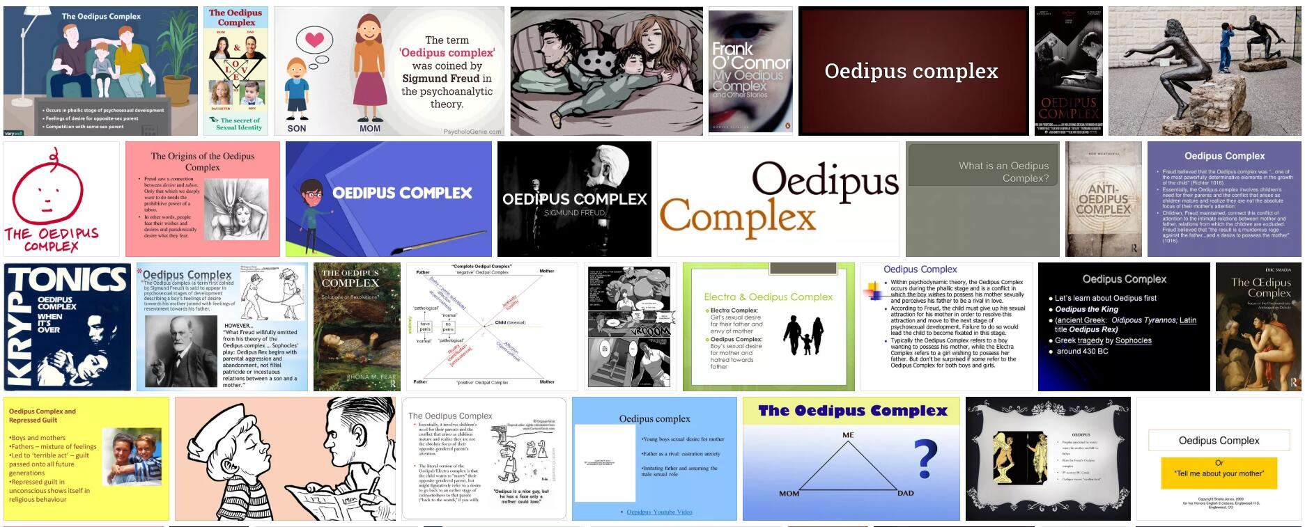 Meaning of Oedipus Complex in English