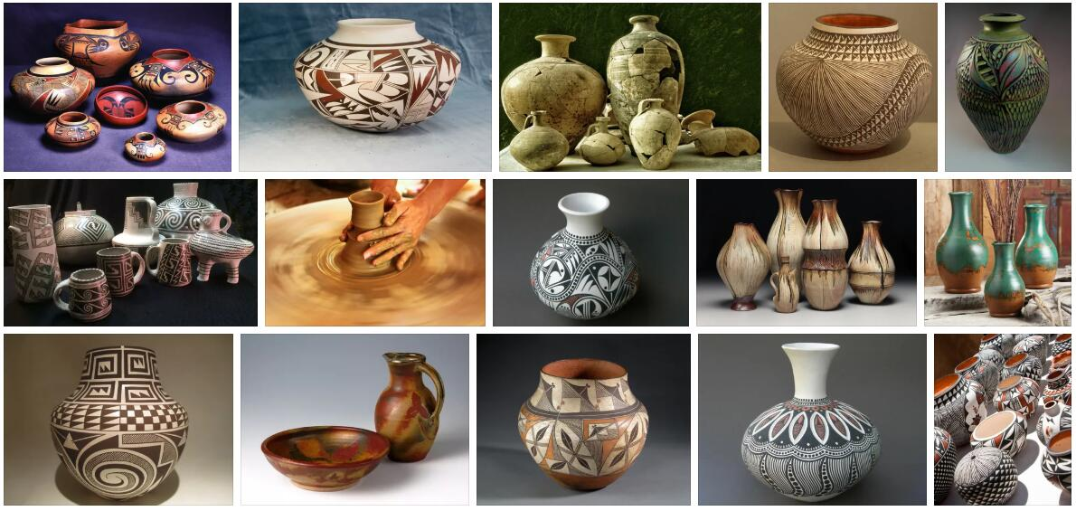 Meaning of Pottery in English
