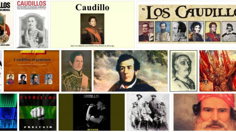 Meaning of Caudillos in English